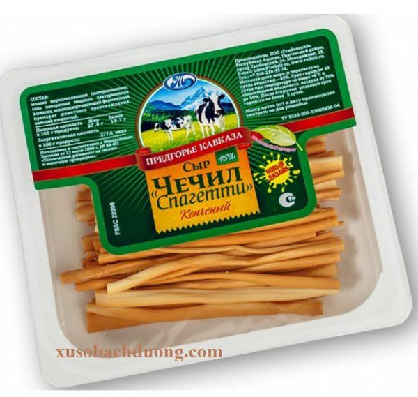 Phomai sơi hun khói Chechil spaghetti nga