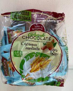 Bánh socola ngũ cốc yến mạch hanh nhân