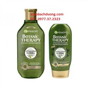 Bộ cặp dầu gội xả ô lưu Garnier Botanic Therapy